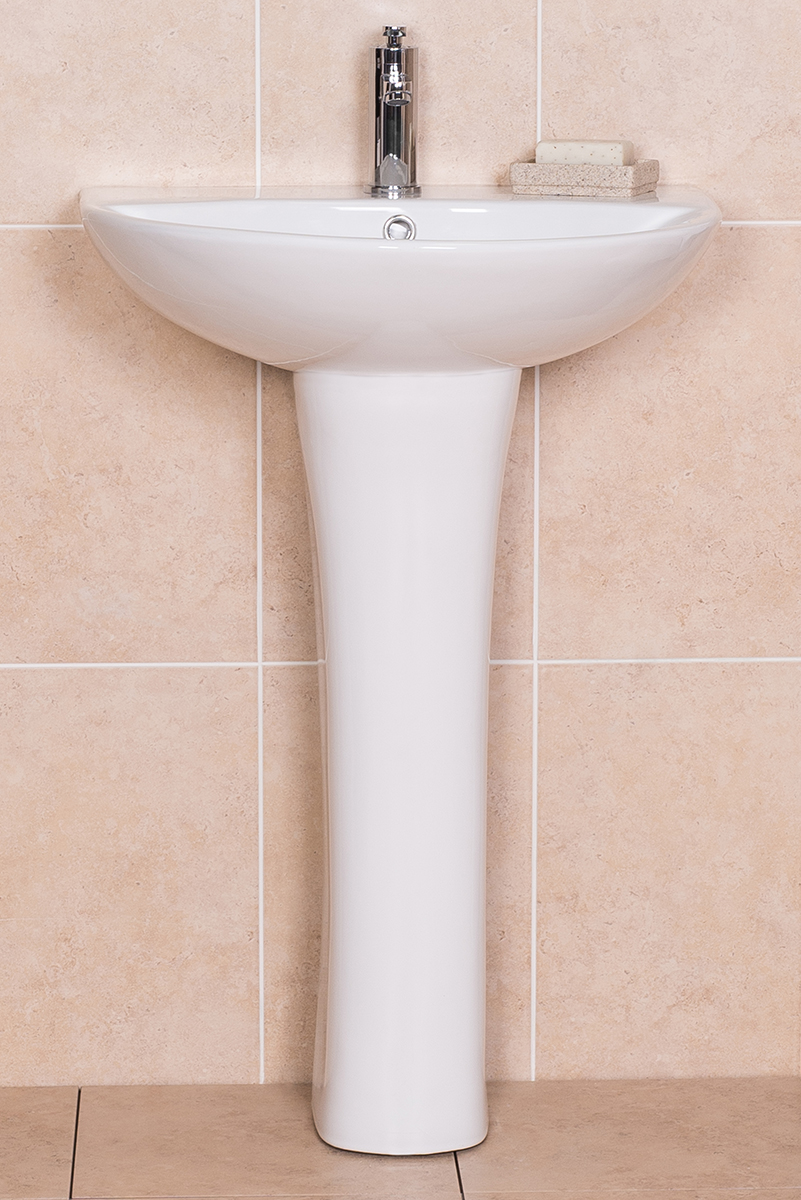 Simple White Modern Bathroom