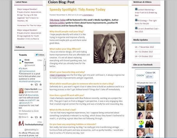 Speedy spotlight media update on Cision blog