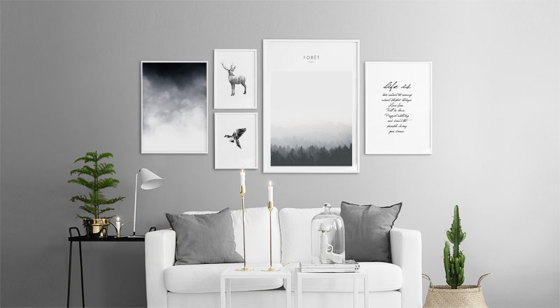 Easy gallery wall layout