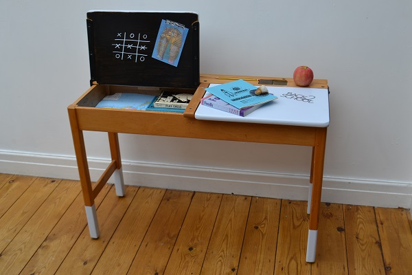 Retro school desk makeover
