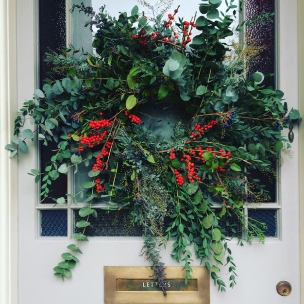 handmade Xmas door wreath