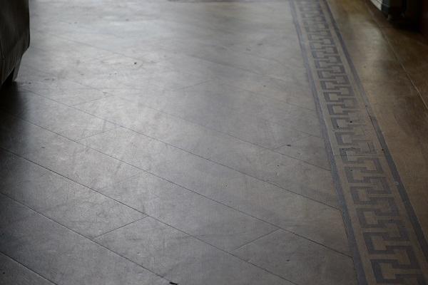 Dull floor before