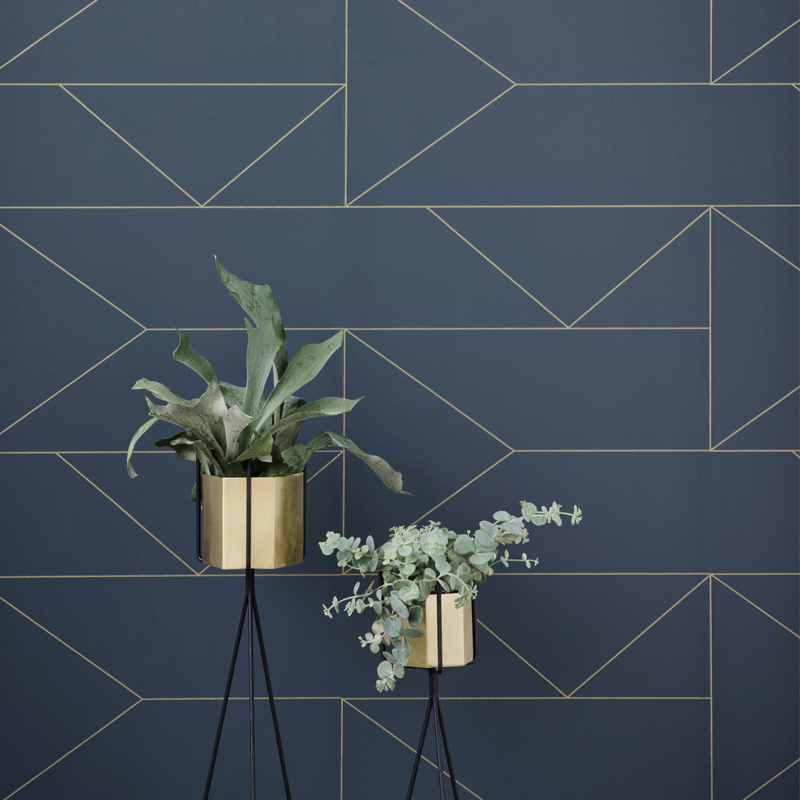 Lines Wallpaper Metallic Luxe