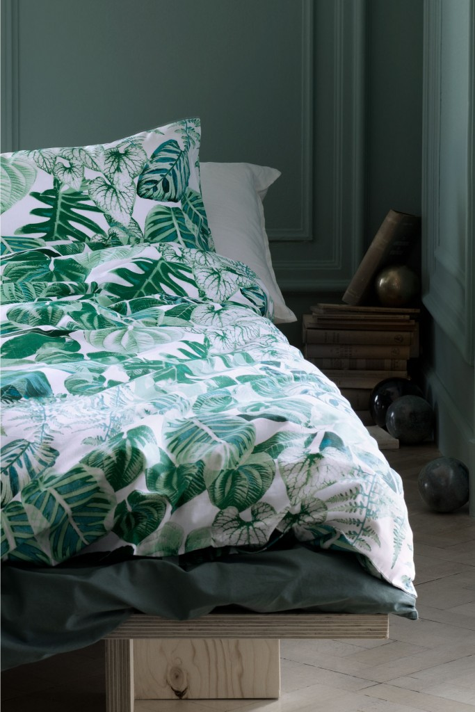 6 ways to nail the botanical trend in your home tidylife - Housse de couette jersey ...