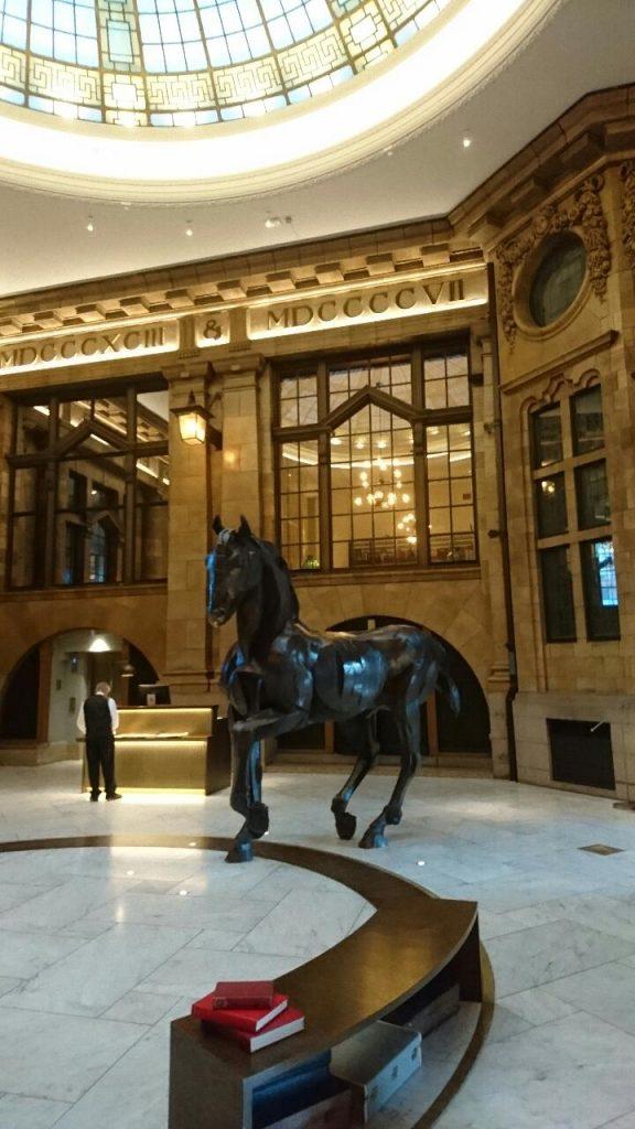Historical hotel lobby