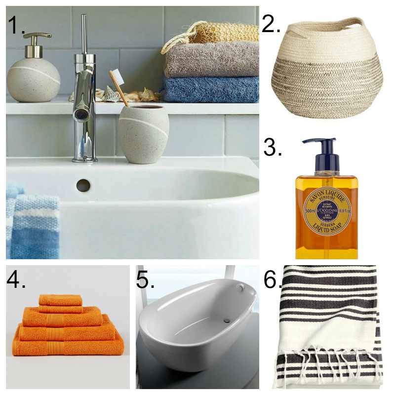 how to create a summer style bathroom tidy away today. Black Bedroom Furniture Sets. Home Design Ideas