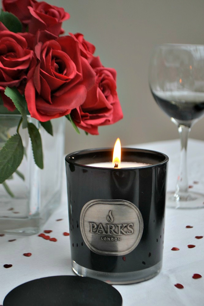 dark rose candle