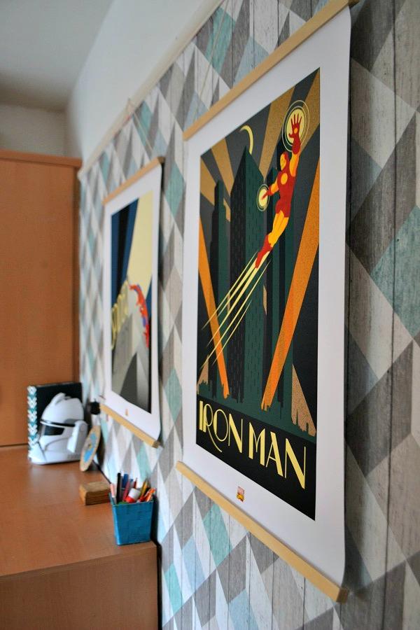 Art Deco Superhero Prints