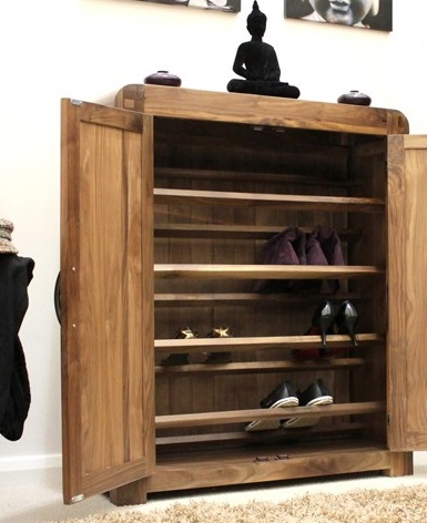Wooden shoe cupboard