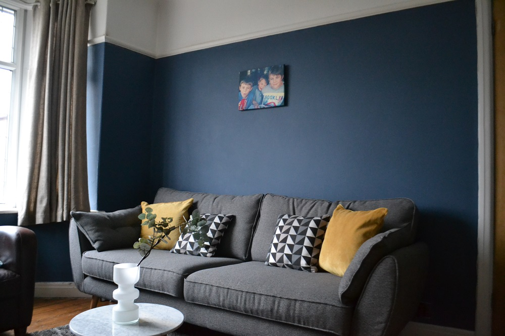 DFS Zinc Sofa and Farrow & Ball paint