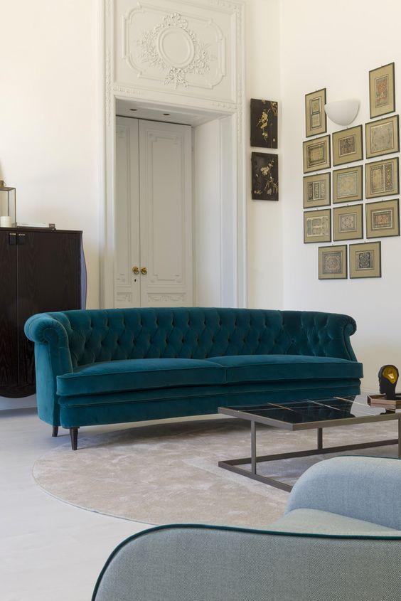 Luxury velvet sofa