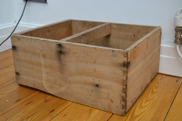 How to personalise an old wooden crate or trug - #tidylife Wooden Planters Personalised on wooden rakes, wooden benches, wooden plates, wooden bookends, wooden pavers, wooden greenhouses, wooden bells, wooden bollards, wooden toys, wooden arbors, wooden pedestals, wooden plows, wooden home, wooden decking, wooden bird feeders, wooden chairs, wooden bird houses, wooden trellis, wooden troughs, wooden garden,