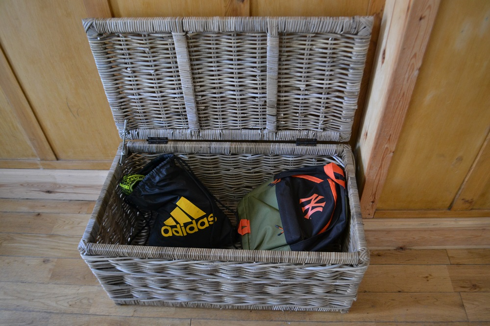 Wicker storage chest