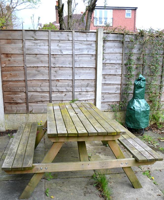 Picnic bench makeover