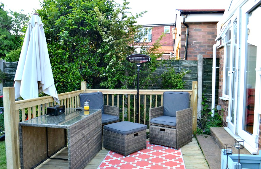Borneo Garden Furniture Asda creating a heavenly outdoor space with #asdaoutdoors - tidy away today
