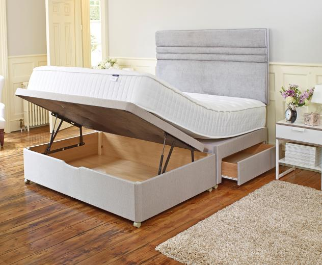 Double beds archives tidylife for Double divan bed with storage