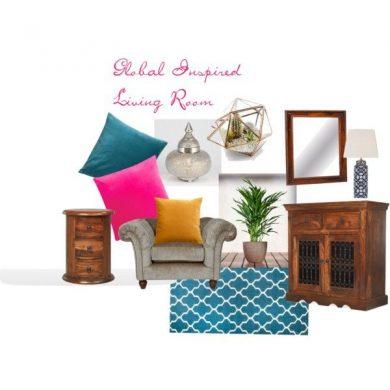 Global Living Room Mood Board
