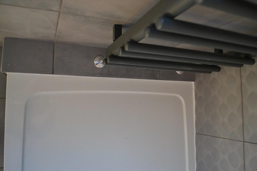 dark grey heated towel rail