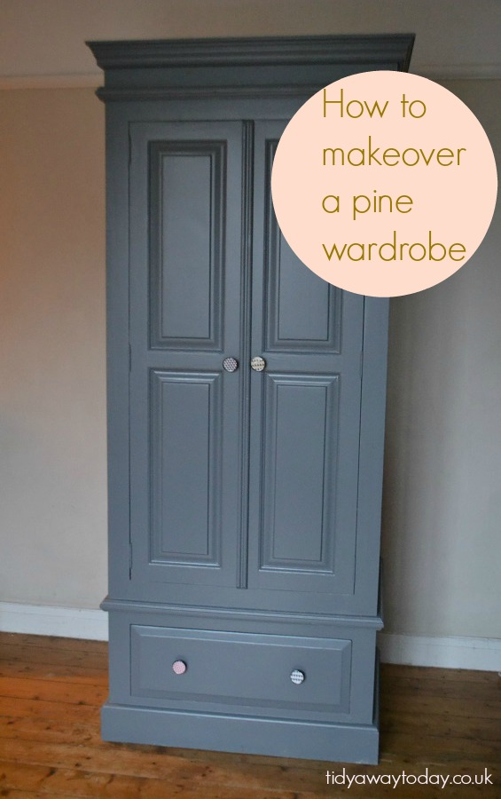Updating A Pine Wardrobe Tidylife