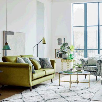 Topaz velvet sofa DFS
