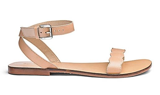 nude leather sandal