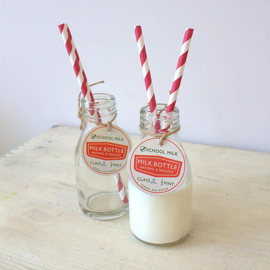 school milk bottles