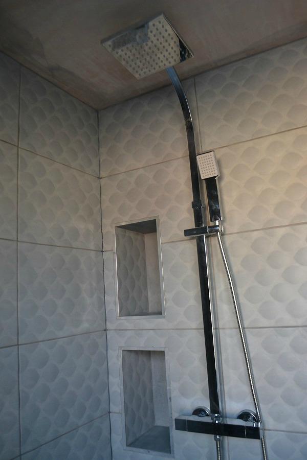 modern square shower