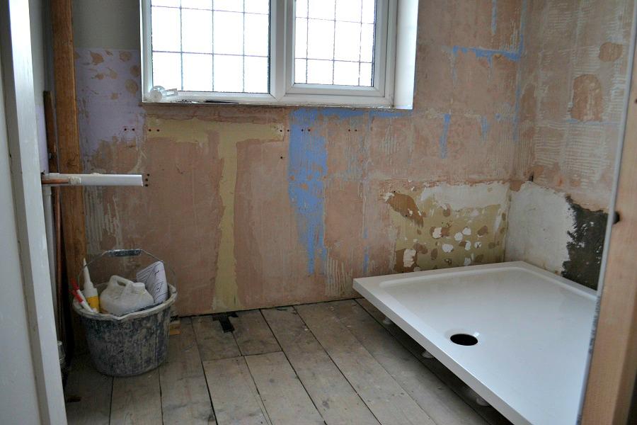 Bathroom To Shower Room Progress - Part One - #tidylife