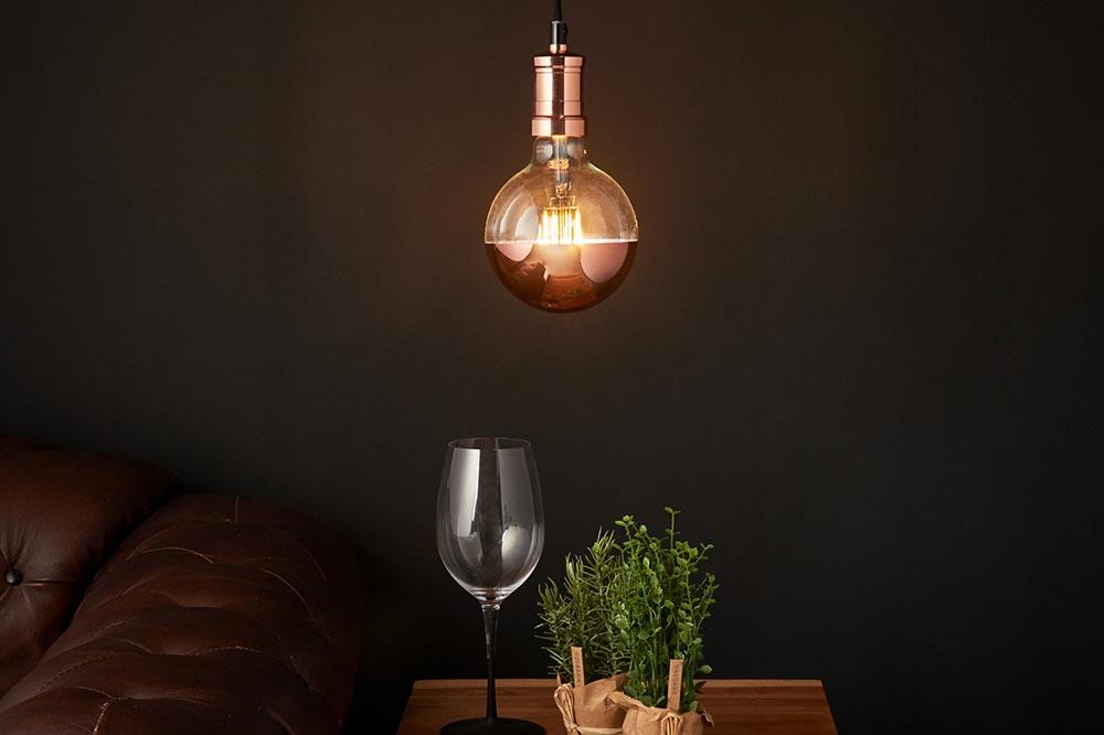 Copper light fitting