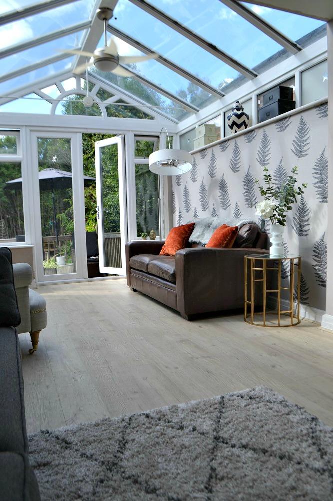 Laminate floor in conservatory