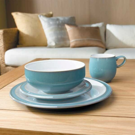 Azure dinner set Denby