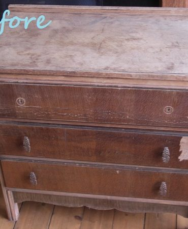 Vintage drawers makeover