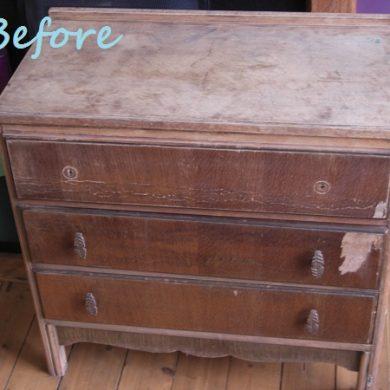 Vintage drawers makeover