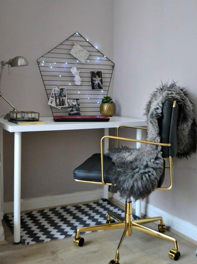 Gold black desk chair