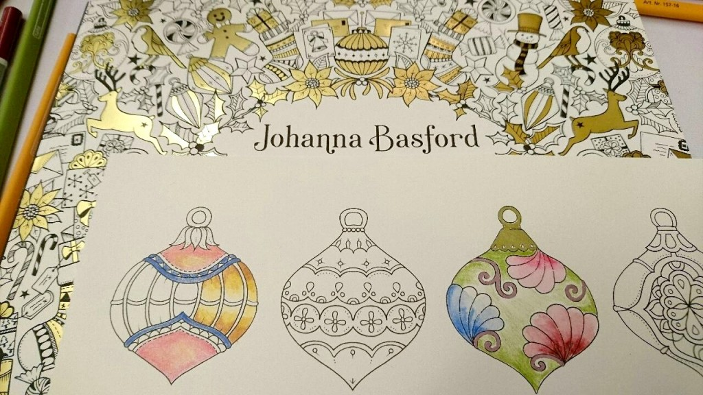 Johanna Basford Christmas Coloring Book.Mycreativeescape Adult Colouring Win Staedtler Goodies
