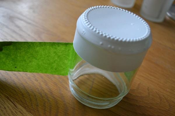 Dipped jam jar tealight holder