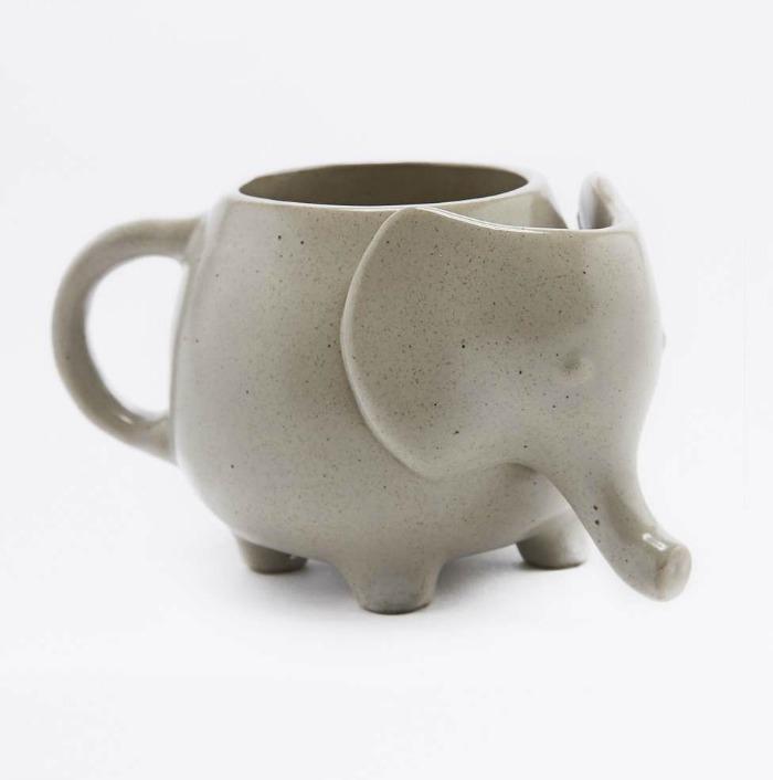 Cuddly elephant mug