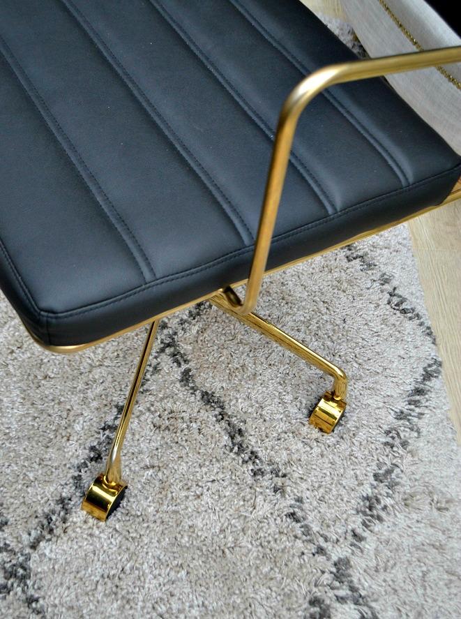 matt leather chair