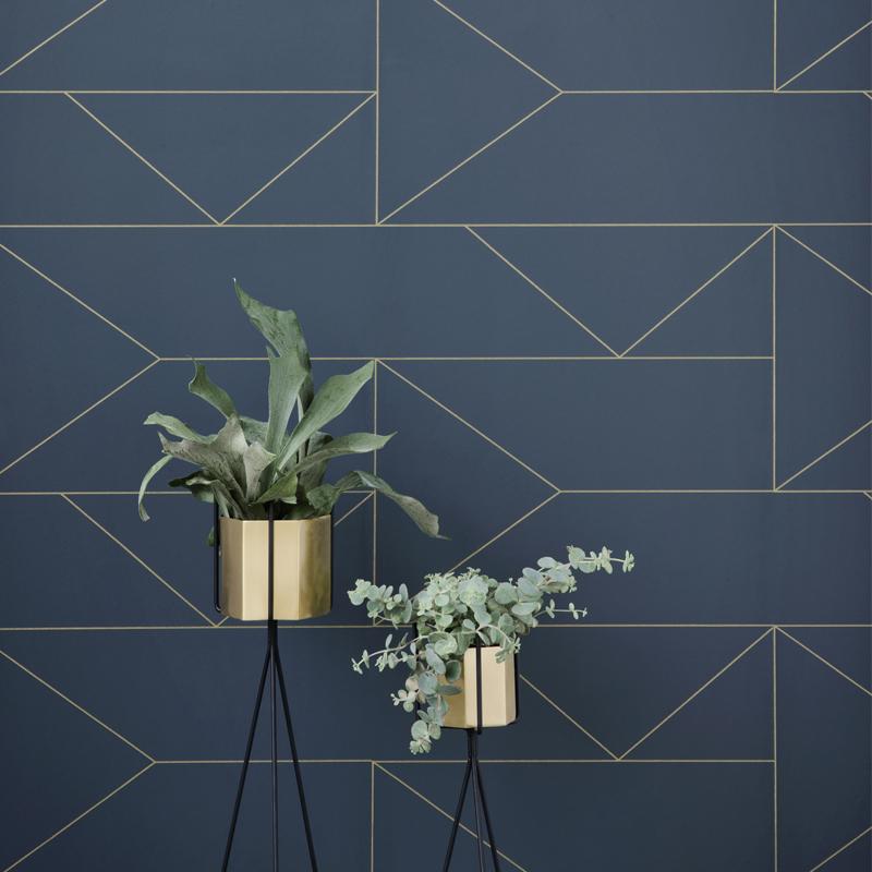 Lines Wallpaper Metallic Luxe