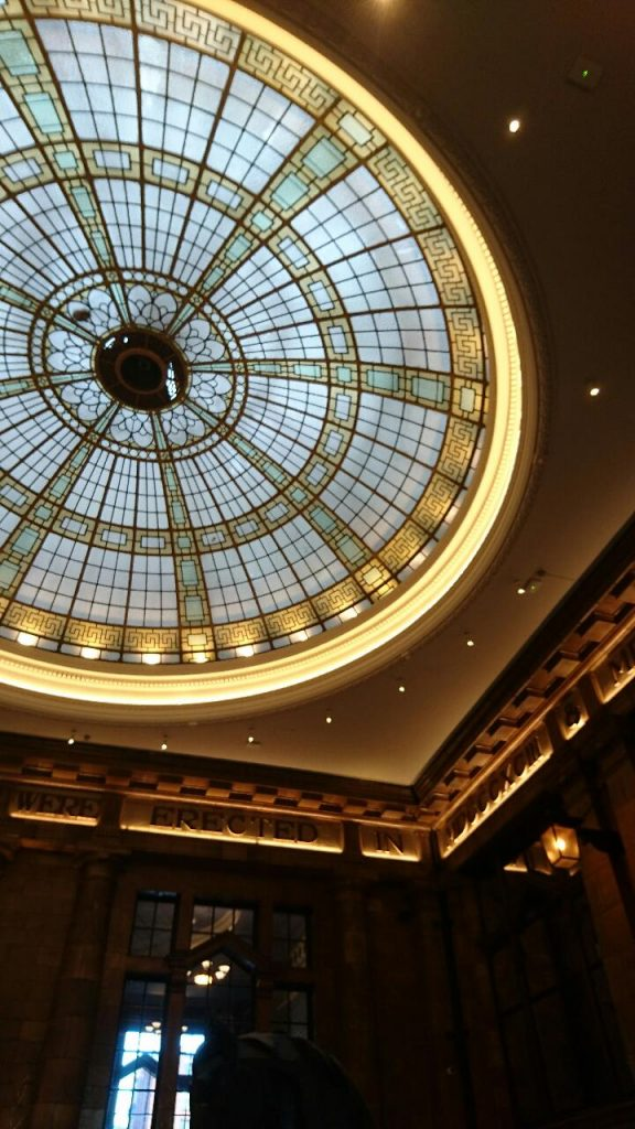 Glass domed roof