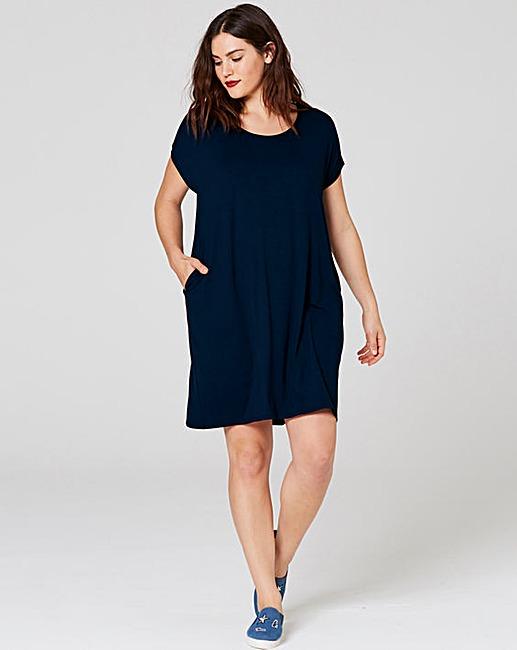 Jersey dress indigo