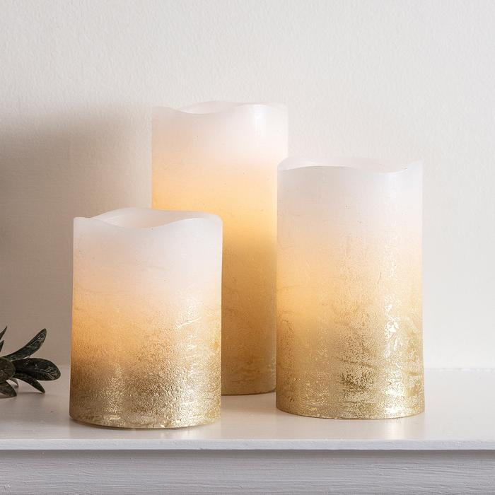metallic candles