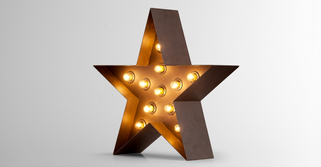 fairground carnival star lamp