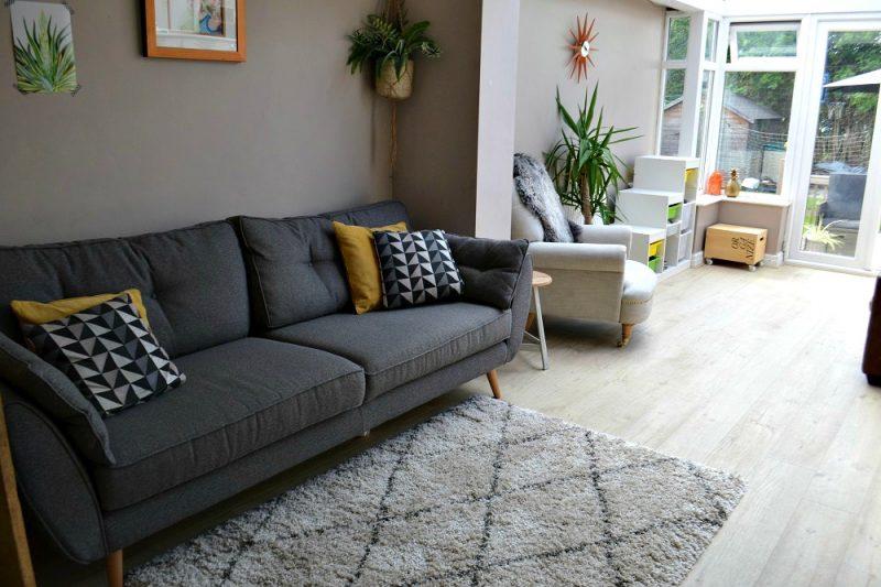 Grey sofa Scandi Style