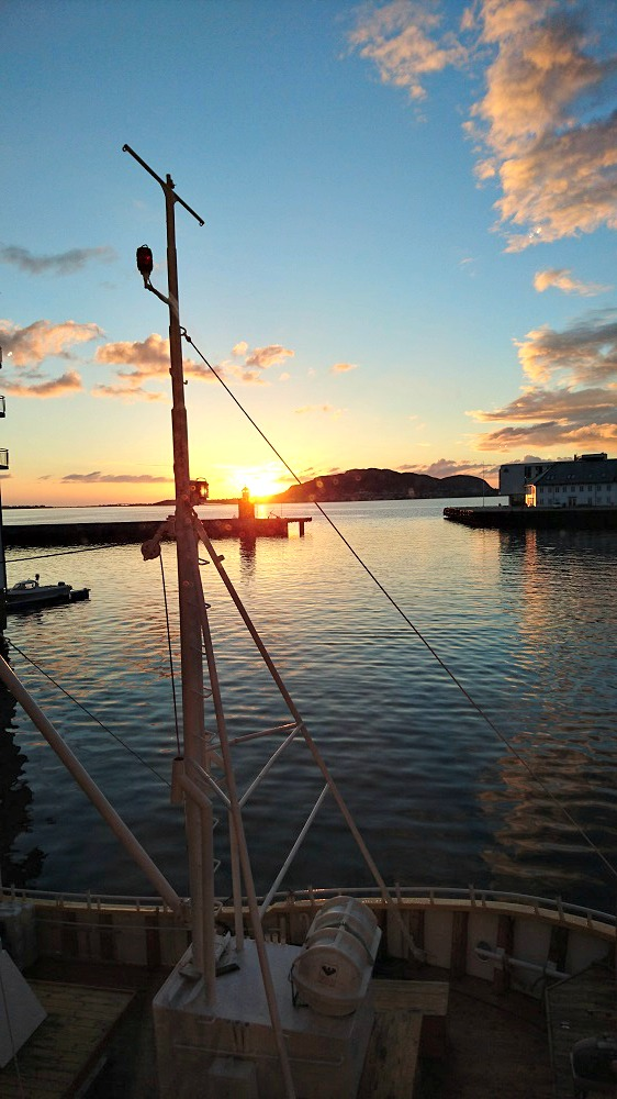 Midnight sun, Alesund Norway