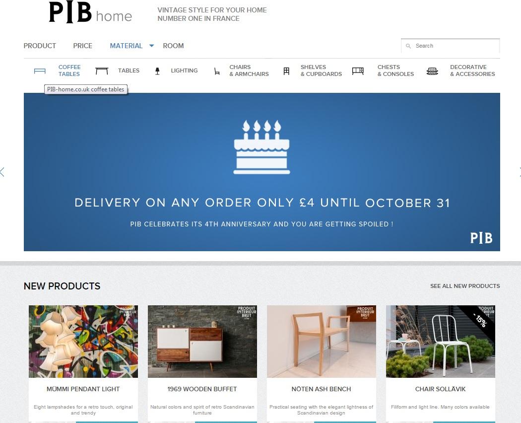 PIB Home website