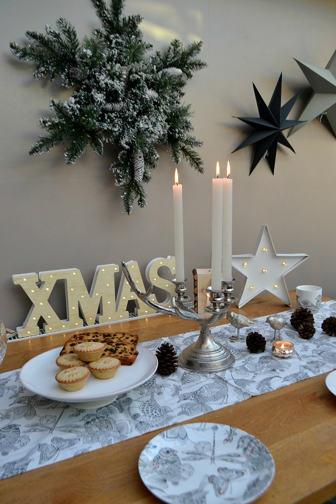 Winter woodland table