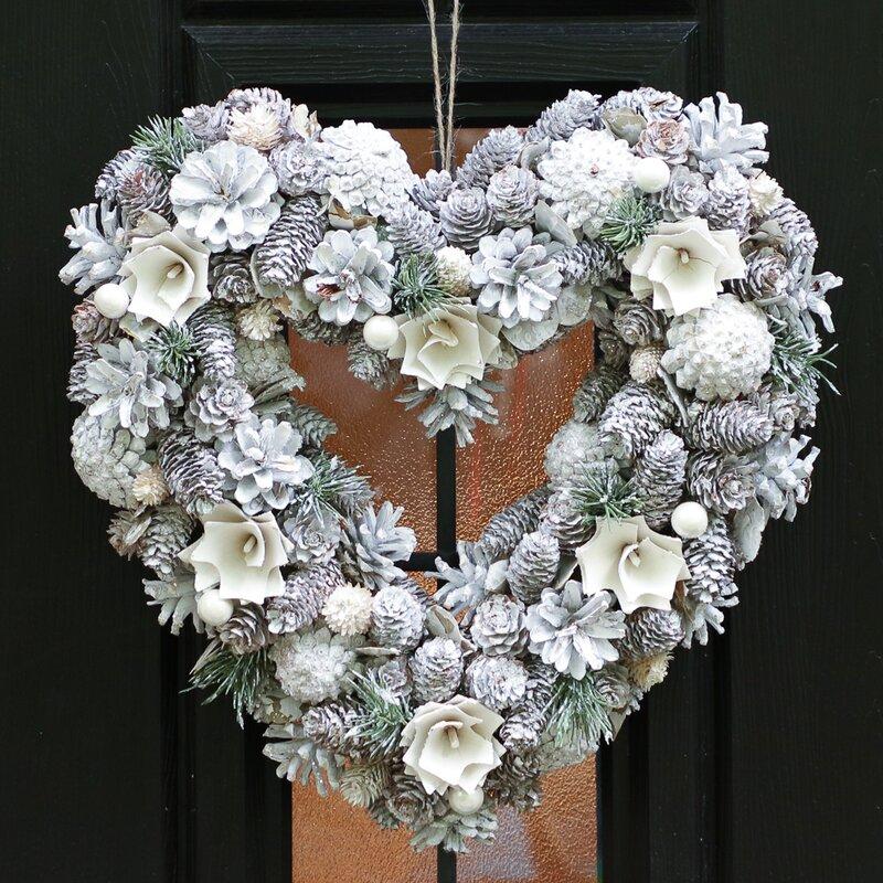 frosted door wreath
