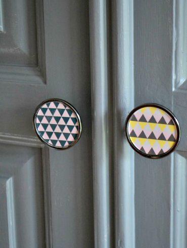 Geometric door knobs