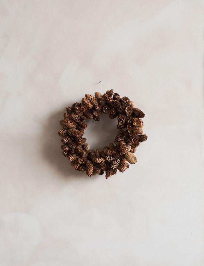 pine door wreath